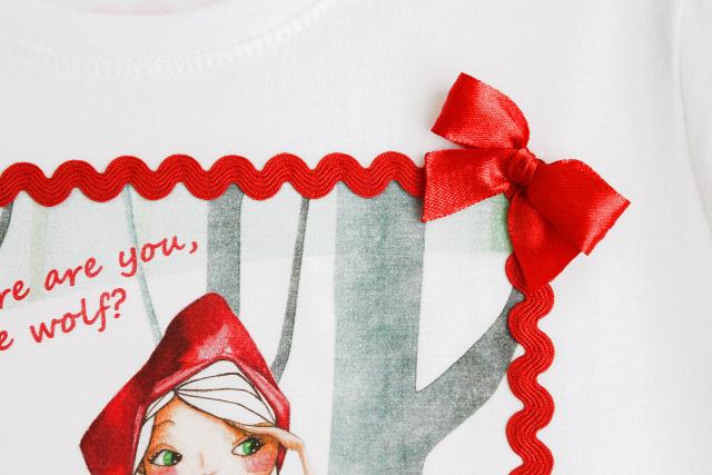 camiseta-personalizada-caperucita-roja-lazos-piquillo-niña-diy