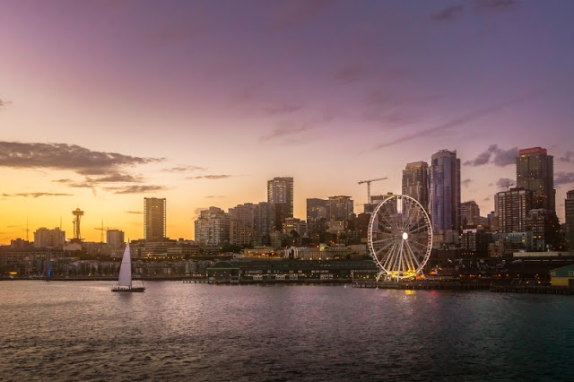 Downtown Seattle and waterfront