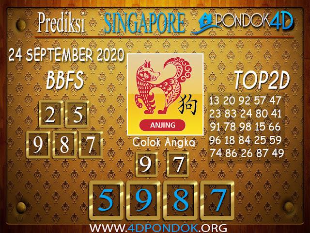 Prediksi Togel SINGAPORE PONDOK4D 24 SEPTEMBER 2020