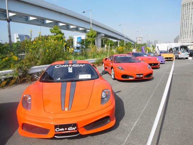 D1 東京ドリフト お台場大会 でのcarguyの展示車両の写真です。