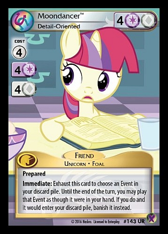 My Little Pony CCG Super Rare Moondancer Page Turner #36 SR High Magic