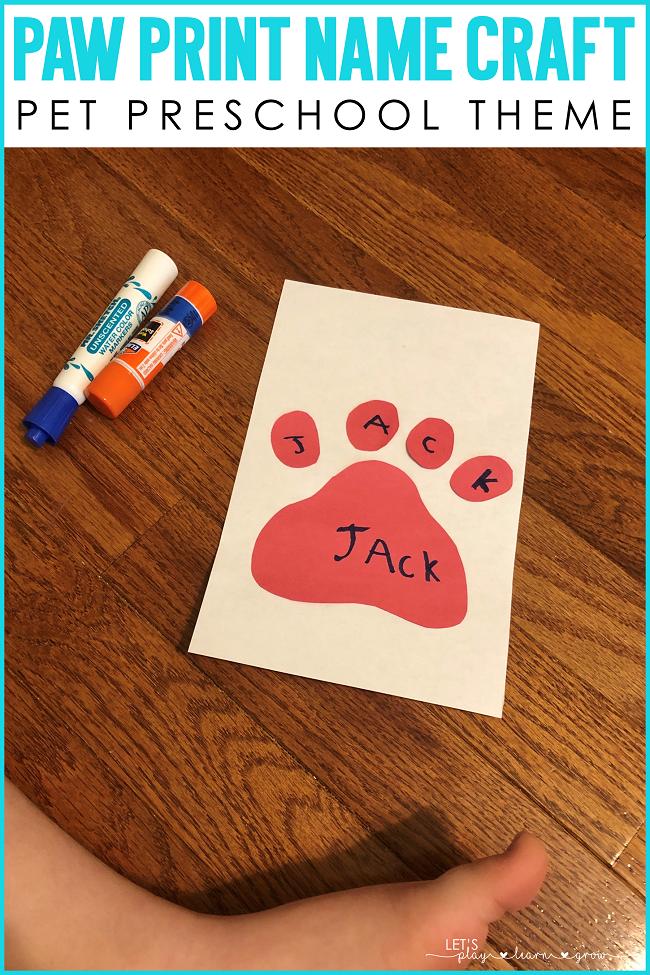 Pet Themed Preschool Activities Lets Play.Learn.Grow