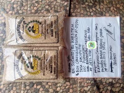 Benih padi yang dibeli ARI SUSANTO, Banyumas,Jateng. (Sebelum packing karung ).