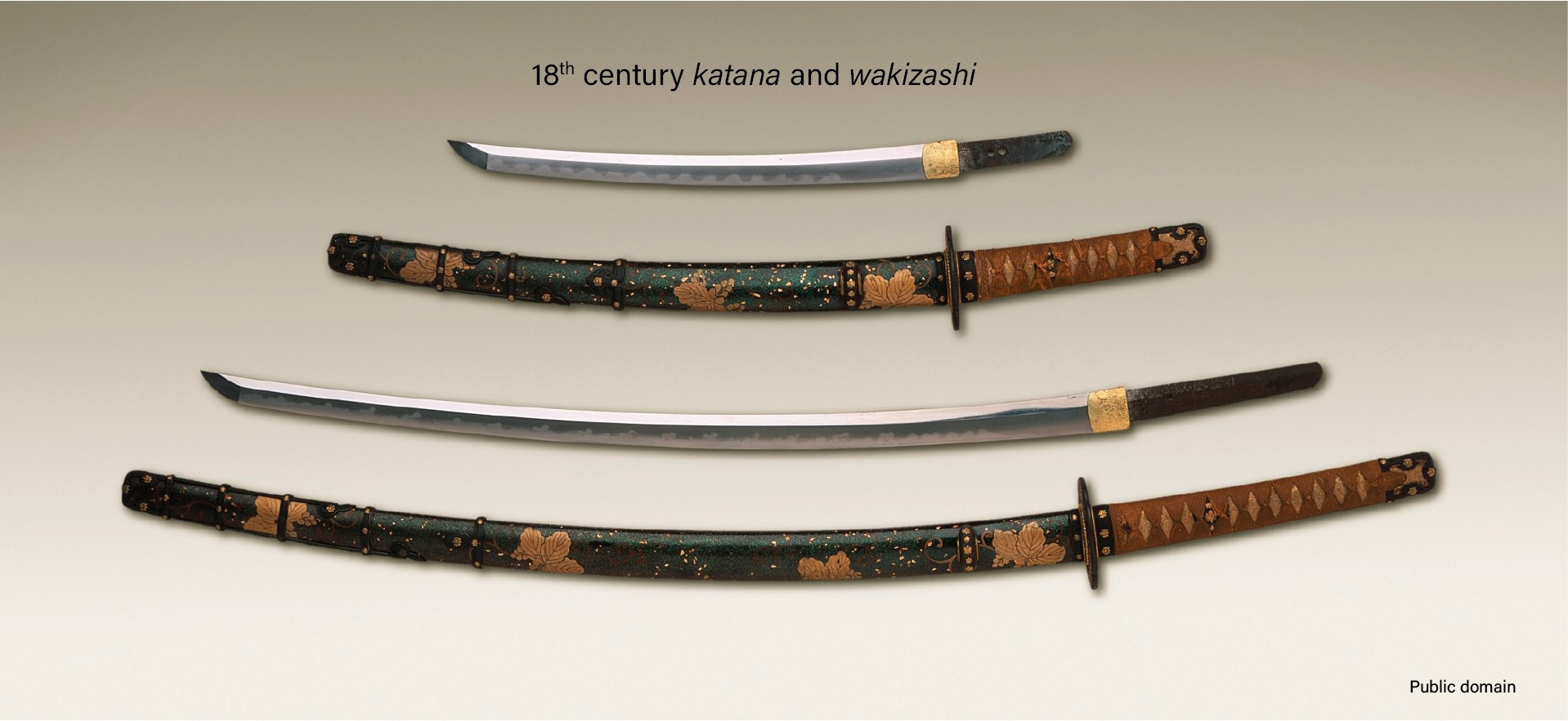 18th century katana and wakizashi Japanese sword
