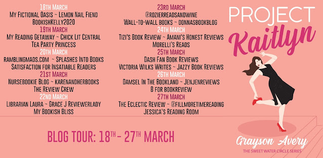 Project Kaitlyn by Grayson Avery blog tour banner