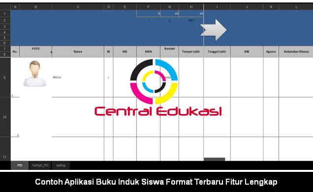 Download Contoh Aplikasi Buku Induk Siswa Format Terbaru Fitur Lengkap