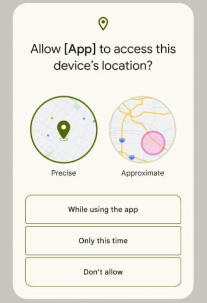 Android 12 位置情報の精度設定