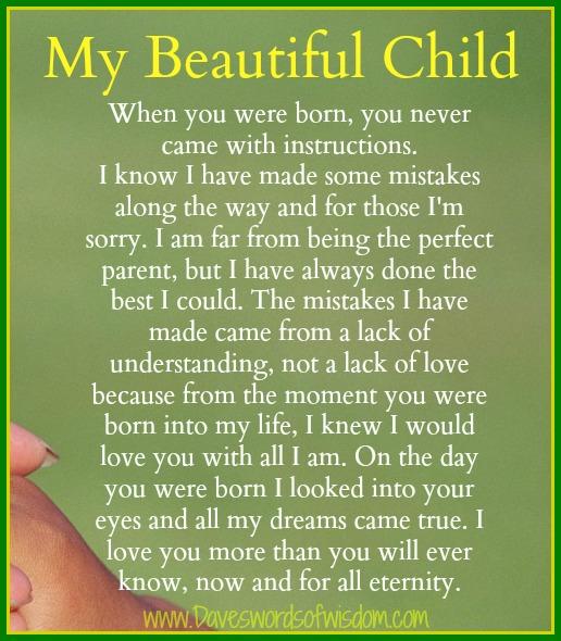 My Children Quotes: Daveswordsofwisdom.com: My Beautiful Child