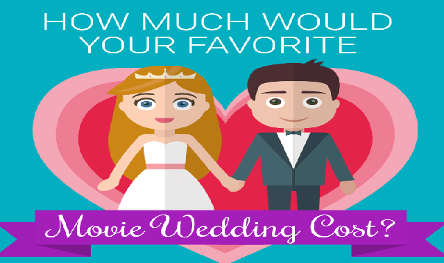 How Much Would Your Favorite Movie Wedding Cost? #infographic