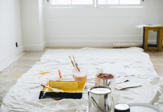 House Renovations Dust Sheet Painting