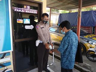 Cegah Penularan Covid di Pelelayanan SIM, Sat Lantas Polres Enrekang Terapkan Prokes 5 M