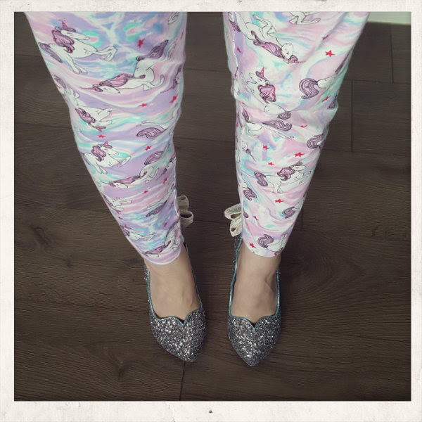 wearing irregular choice sparkling slipper