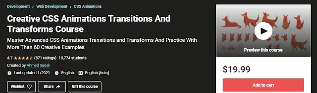 Creative CSS AnimationsTransitions And Transforms Course