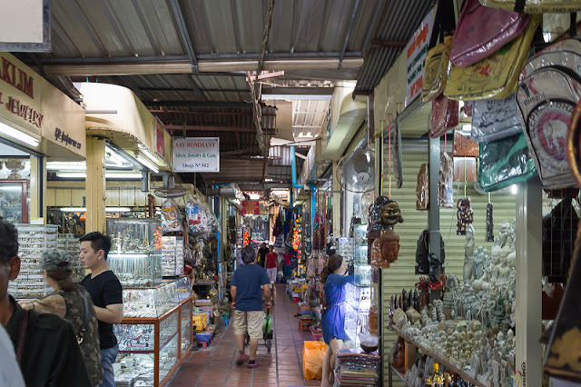 people shopping at Russian Market in Phnom Penh