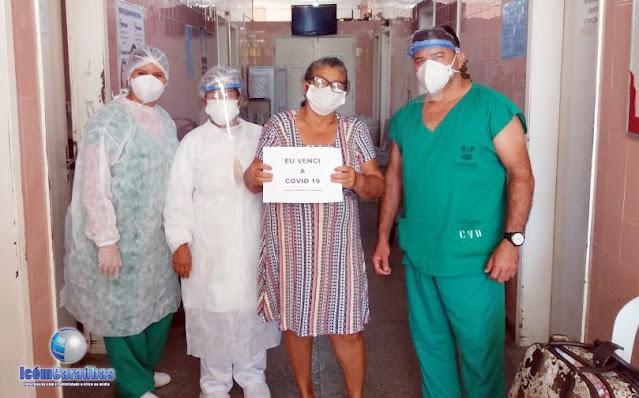 Caraubense 63 anos vence Covid-19 e recebe alta médica no hospital de Caraúbas