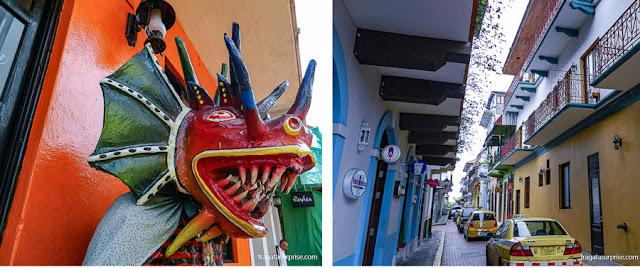 Máscara indígena tradicional do Panamá