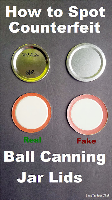 how to tell if Ball canning jar lids are real