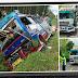 Tabrakan dengan Truk Tronton, Bus Masuk Parit di Jalan Siantar-Medan