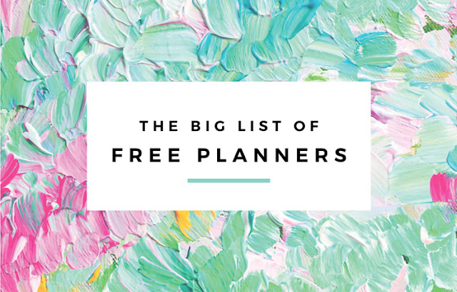 The Big List of Free Planners by Eliza Ellis