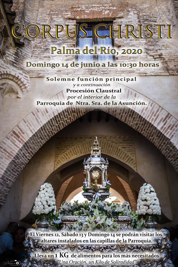 Procesión claustral para celebrar el Corpus en Palma del Río