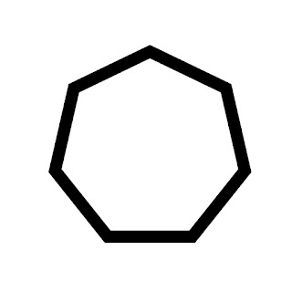 vector clip art of a heptagon