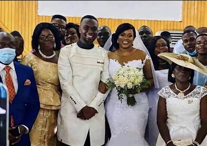 Video: Joe Mettle and Salomey Selassie's white wedding