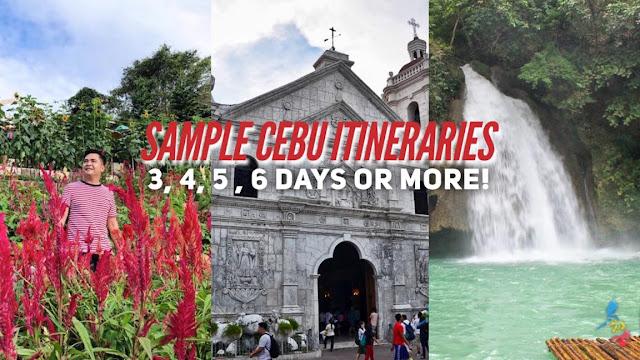 SAMPLE CEBU DIY ITINERARY 3, 4, 5, 6 DAYS