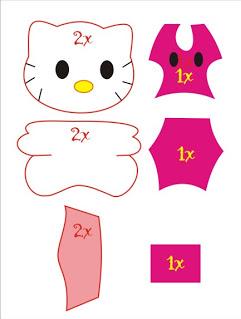 Pola Boneka Hello Kitty dari Kain Flanel
