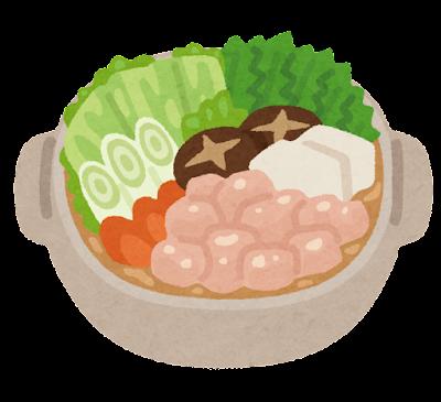 水炊きのイラスト(鍋)