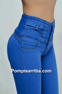 Ferias de ropa para dama jeans corte colombiano pompis arriba levanta pompas