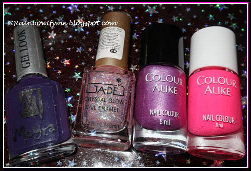 Moyra: Caroline, Ja-De: Celestial, Colour Alike: B.a Lilac Sweater & Fuchsia Flash