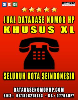Jual Database Nomor HP Khusus Operator XL