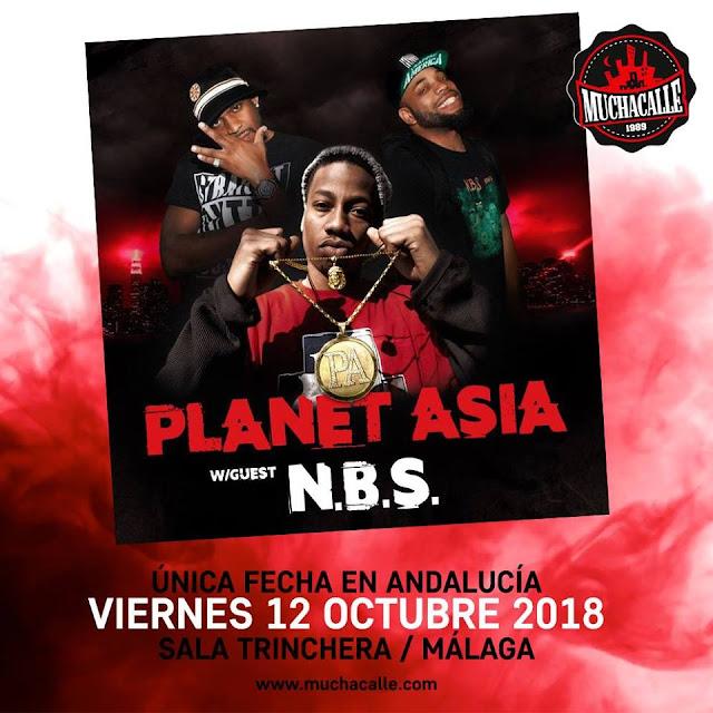 Concierto de Planet Asia en Málaga