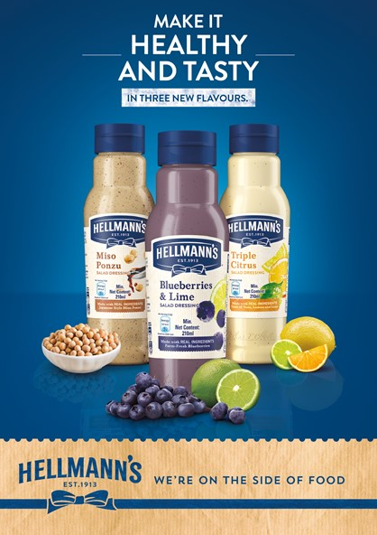 Salad Dressings Have Just Gotten Better and Healthier with Hellmann's New Drop