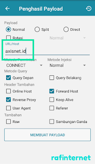 Cara setting http injector Axis reguler full speed dan unlimited