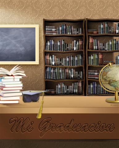 Fondo prediseñado para fotomontajes de graduación