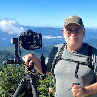Norm Stokes at Clingmans Dome TN, getting ready for some scenic photography for Norm Stokes Photography's website