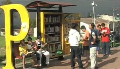 Мини библиотека в Колумбии.