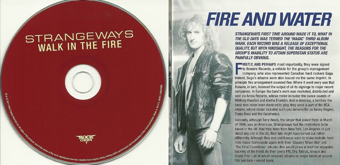 STRANGEWAYS - Walk In The Fire [Rock Candy remaster +4] booklet
