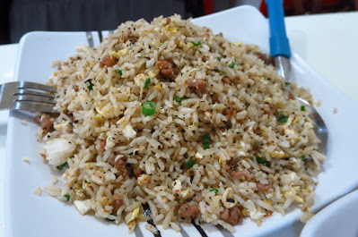 Tian Fu Ren Jia (天府人家), black pepper beef fried rice (黑椒鸡肉炒饭)