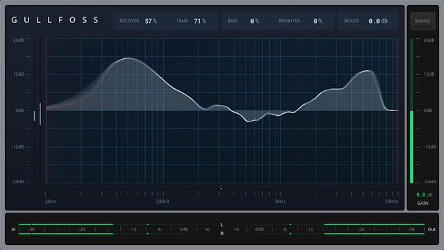 Interface do plugin Gullfoss 1.4.1 -  Soundtheory
