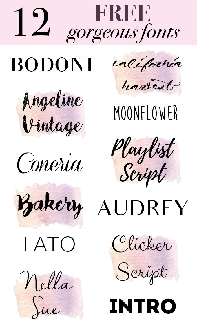Daily Dose of Design: 12 Gorgeous Fonts the Creative Soul Needs