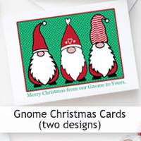 Gnome Christmas Card Printables