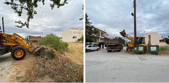Καθαρισμός και μάζεμα ογκωδών αντικειμένων σε γειτονιές του Ναυπλίου