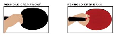 penhold grip