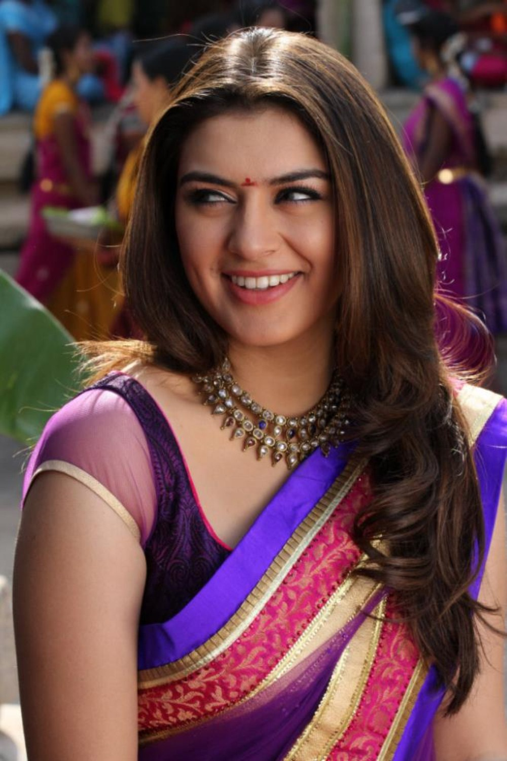 Actress Hansika Motwani Latest Hot Yellow Saree Photos -2443