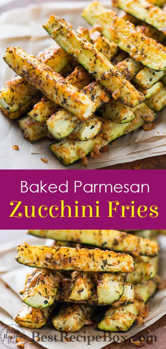 HEALTHY BAKED PARMESAN ZUCCHINI FRIES – KETO