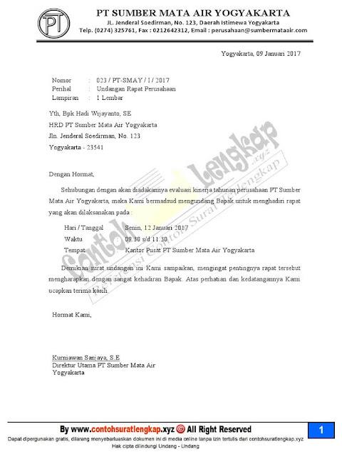 Contoh Surat Undangan Resmi Singkat (via: contohsuratin.com)