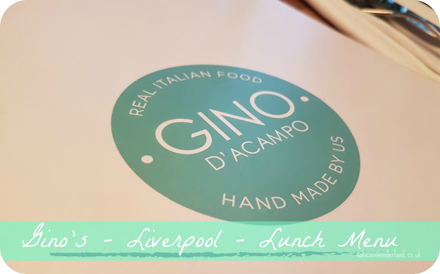 ginos restaurant liverpool set lunch menu
