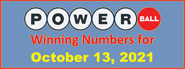 PowerBall Winning Numbers for Wednesday, October 13, 2021